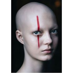 Shave Eyebrows, Makeup Art, Hair Makeup, Bald Girl, Bald Women, Face Photo, Portraits, War Paint, Cut And Color