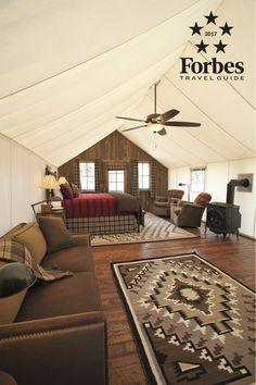 The Ranch at Rock Creek is the world's only Forbes Travel Guide Five-Star guest ranch and one of two Five-Star glamping destinations. This proves that pristine nature and outdoor adventures are rarified luxuries in and of themselves.