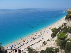 Egkremnoi Beach Lefkada Greece Beach, Places, Summer, Summer Time, The Beach, Beaches, Lugares