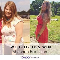 Weight-Loss Win is an original Yahoo Health series that shares the inspiring stories of people who have shed pounds healthfully.  Shannon Robinson is 26, 5′8″, and currently weighs 159 pounds.