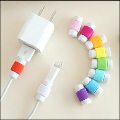 10pcs USB Charger Wire Cable Protector Cover Earphone Line Data Cable Protection Sleeve Cable Winder For iPhone H113