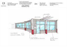 design extérieur de la réception