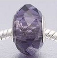 Purple Faceted Crystal Bead fits Pandora