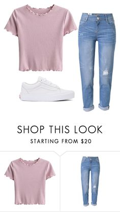 """""""Untitled #465"""" by coffee-zzzz on Polyvore featuring WithChic and Vans"""