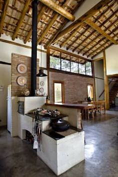 a tin roof Adobe Haus, Sweet Home, Interior And Exterior, Interior Design, Cuisines Design, Tropical Houses, My Dream Home, Home Kitchens, Architecture Design