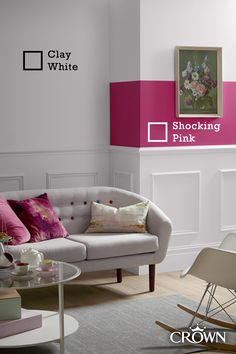Make your home a bright, airy space with shades of white this season Living Room Inspiration, Interior Inspiration, Sofa, Couch, Shades Of White, Accent Colors, Home And Family, Crown, Colours