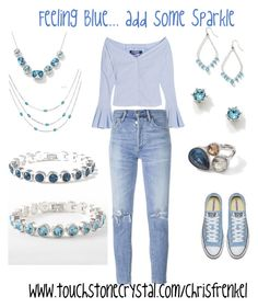 """Feeling Blue"" by christen-olnhausen-frenkel on Polyvore featuring Jacquemus, Citizens of Humanity and Touchstone Crystal"