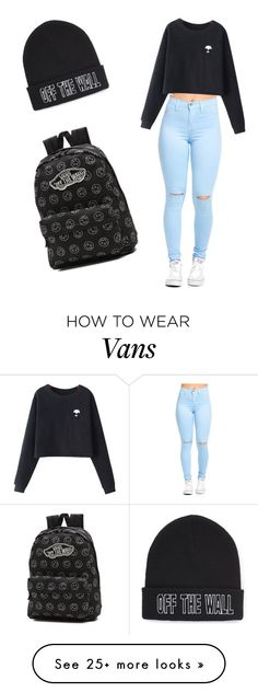 """""""Vans"""" by emilymilliron on Polyvore featuring Chicnova Fashion and Vans"""