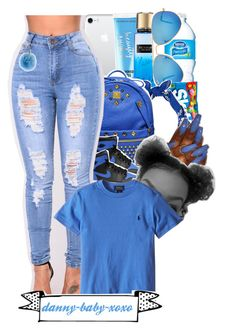 """""""blue"""" by danny-baby-xoxo ❤ liked on Polyvore featuring Beauty Rush, Victoria's Secret, Ray-Ban, MCM, Retrò and Fendi"""