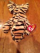 Ty Beanie Baby STRIPES the TIGER Rare! 1995 1ST GEN MWMT! Free Shipping!