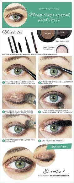 Tuto : Un maquillage yeux verts inspiration Kristen Stewart