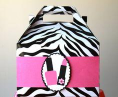 Spa party gift bag decor