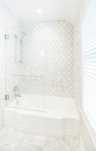 Bathroom Tub Glazing Arabesque Tile Camilla Gl Kohler Marble