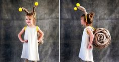 39 Last-Minute DIY Halloween Costume Ideas for Kids Quick and easy snail costume is a fun last minute diy project! Easy Homemade Costumes, Best Diy Halloween Costumes, Diy Costumes, Halloween Kids, Costume Ideas, Infant Halloween, Sheep Costumes, Creative Costumes, Happy Halloween