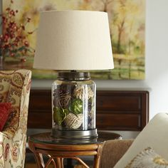 When looking for a lamp for your home, the number of choices are nearly endless. Get the most suitable living room lamp, bedroom lamp, desk lamp or any other style for your specific place. Unique Floor Lamps, Arc Floor Lamps, Fillable Lamp, Glass Lamp Base, Glass Lamps, Bedroom Lamps, Beautiful Living Rooms, Jar Lamp, Living Room Lighting