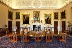 Harewood House in Yorkshire - The State Dining Room is still used for private functions and diners.