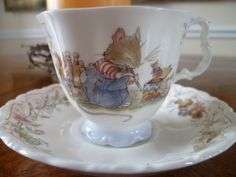 Royal Doulton Brambly Hedge The Birthday Cup and Saucer. She's going to use mine from my first birthday!