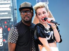 "Miley Cyrus & will.I.am: ""Fall Down"" from Celebrity Collaborations  This hit collab is more of an urban contemporary sound rather than the electro-dance vibe of will.i.am's previous singles. The two artists performed ""Fall Down"" on Jimmy Kimmel Live."