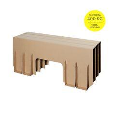 Banco de 3 lugares de Papelão - Cartone Design - Móveis de Papelão