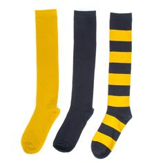 Navy + Yellow 3-Pack Knee-High Socks #Michigan #NFL #NBA #Gold #Blue #Maize