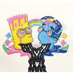 Trendy watercolor art face to draw 20 ideas Trendy watercolor art face to draw 20 ideas Trippy Drawings, Psychedelic Drawings, Colorful Drawings, Art Drawings, Art Sketches, Simpsons Drawings, Simpsons Art, Canvas Art Quotes, Diy Canvas Art