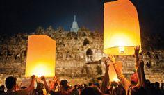 The Vesak fest celebrated at Borobudur.