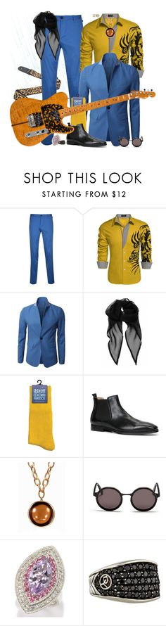 """""""Good night, sweet Prince..."""" by leighanned ❤ liked on Polyvore featuring DKNY, ALDO, Goshwara, Sunday Somewhere, Dallas Prince, David Yurman, men's fashion, menswear and prince"""
