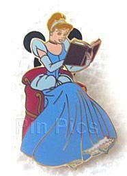 Pin Pics Disney Pin 44104: Reading a Book - 2 Pin Set (Cinderella Only)