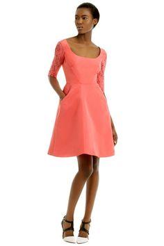 712c2de5fbb3 Wedding guest by Monique Lhuillier Coral Bridesmaid Dresses