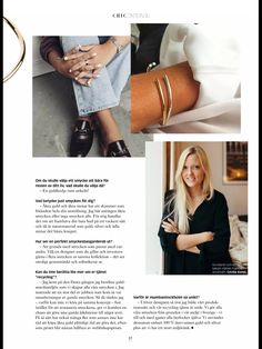 Interview with mumbaistockholm founder and jewelry designer Cecilia Kores, Swedish CHIC magazine, Feb 2016, Page 1/2