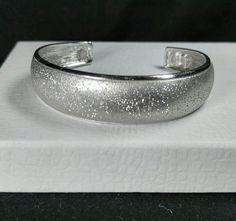 """Vintage Sterling Silver 925 CHARLES GARNIER Textured Cuff 16mm - Bracelet 6.5"""" #CHARLESGARNIER #Cuff"""