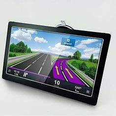 Ultrathin Portable 7 inch Touch Screen Car GPS Navigation FM HD 4GB+8GB New Map, Built-in GPS Antenna / Bluetooth / FM / Video Input