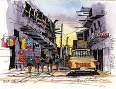 James Richards Sketchbook: Kenya: A Transformational Experience New Architecture, Architecture Details, Architecture Sketches, Sketch Painting, Watercolor Sketch, Life Drawing, Drawing Sketches, Sketching, James Richards