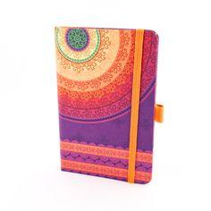 Herlitz Notebook Ivory Graphic – Purple Mandala Motif, Graph (9 x 14)