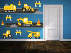 Construction Truck Decal - Boys Nursery Decals - Children Wall Decals - Truck Wall Decals - Transportation Decals by YendoPrint on Etsy https://www.etsy.com/listing/179895161/construction-truck-decal-boys-nursery