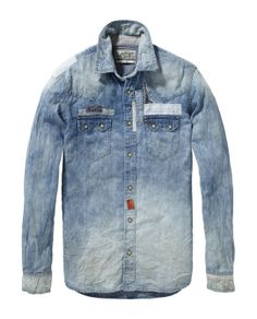 Patched and Repaired Sawtooth Shirt - Scotch & Soda