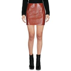 Dsquared2 Mini Skirt ($214) ❤ liked on Polyvore featuring skirts, mini skirts, brick red, zip skirt, short mini skirts, zipper mini skirt, short tube skirt and mini skirt