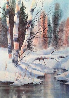 Alaska Birch II Painting by Teresa Ascone