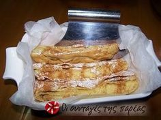 Bougatsa without eggs from Serres Greek Sweets, Greek Desserts, Greek Recipes, Cookbook Recipes, Sweets Recipes, Cooking Recipes, The Kitchen Food Network, Best Sweets, Happy Foods