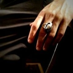 "They wear matching daylight rings so they can walk in the sun. Stefan's has a ""S"" and Damon's has a ""D"". ***RING POWER*** 