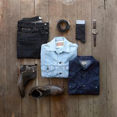 "333 Me gusta, 20 comentarios - Seth Hartman / #mycreativelook (@mycreativelook) en Instagram: ""I tried something new today, triple denim! Now the jacket didn't last long before I got too hot …"""