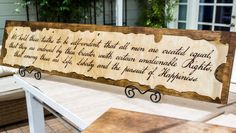 Celebrate Fourth Of July & create  Declaration of Independence Wall Art from @kennethwingard