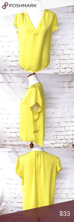 H&M Bright Yellow Blouse Size 12 Material label is no longer on garment feels like 100 Rayon. H&M Tops Blouses