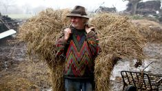 French farmer Jean-Bernard Huon has rejected modern techniques such as machinery and chemicals, relying instead on traditional methods.