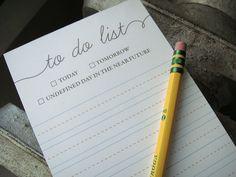 Handwritten Notepad To Do List