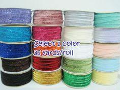 1 roll 36 yards Glitter Ribbon 3/8 Rainbow Trim by ichimylove, $22.00