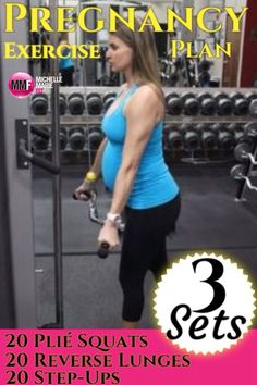 A safe and effective #PREGNANCY EXERCISE PLAN works the entire body. This #workout focuses on the #thighs. Here is a great #core #pregnancy #workout.  http://michellemariefit.publishpath.com/core-exercises-during-pregnancy