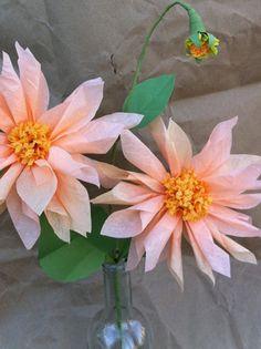 Peach Dahlia - paper