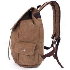 Men Outdoor Travel Canvas Backpack School Rucksack Shoulders Bag - US$35.20