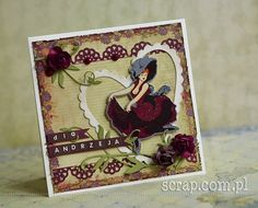 dla Andrzeja / for Andrew Prima Marketing, Lunch Box, Ornament, Scrapbooking, Valentines, Creative, Blog, Cards, Moulin Rouge